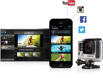 GOPRO HERO4 Black - Caméra sport - fonctions de partages réseaux sociaux