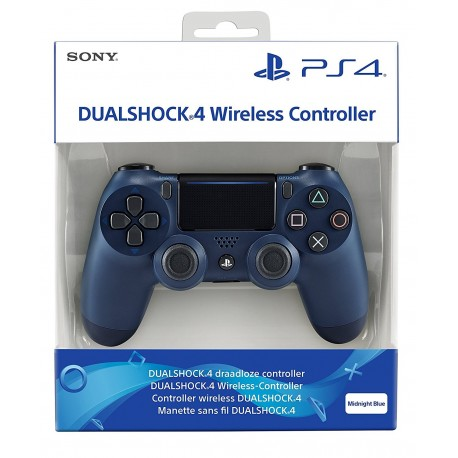 PS4 DualShock 4 Wireless Controller (Midnight Blue) - Sony